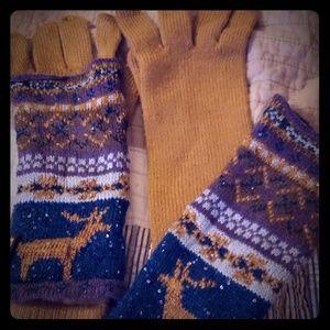 Muk Luks multi layer gloves NWOT